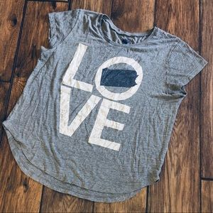 State of Mine LOVE PA graphic short sleeve shirt
